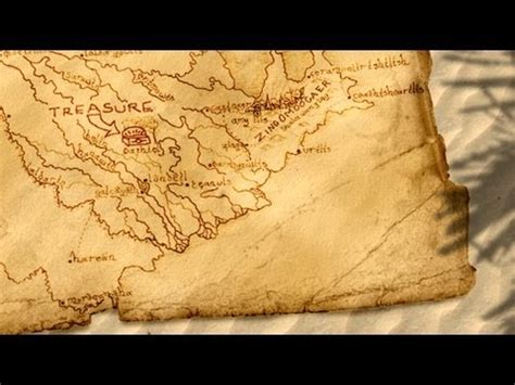 How To Make A Paper Map - photoshop tutorial how to make an pirate treasure