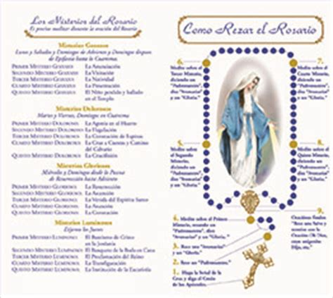 printable rosary instructions 4 page rosary instruction phlet prospect hill company