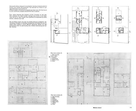 House Drawings Plans maison jaoul neuilly sur seine 1951 1955 le corbusier