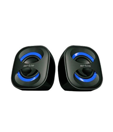 Speaker Quatro 2 Usb buy artis 2 0 mini desktop speakers powered with usb black blue at best price in