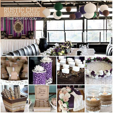 aya s rustic chic bridal shower time2partay - Rustic Themed Bridal Shower Decorations