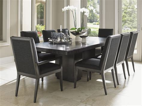 Upholstery Define Carrera Modena Double Pedestal Dining Table Lexington
