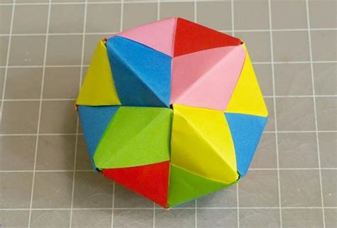 Origami With Post It Notes - modular origami how to make a cube octahedron