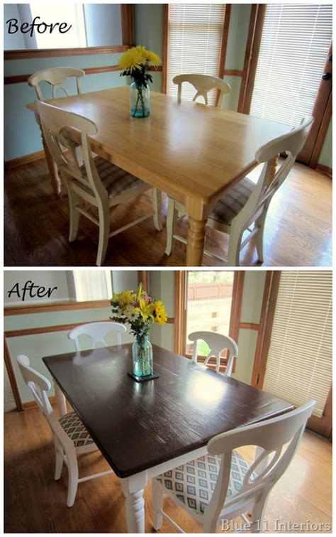Best Dining Room Makeovers Blue 11 Interiors Dining Room Table And Chairs Makeover
