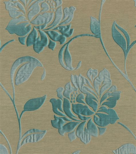 home decor print fabric elite forli teal jo