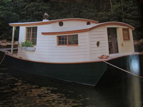 an shantyboat houseboat in wooden boat