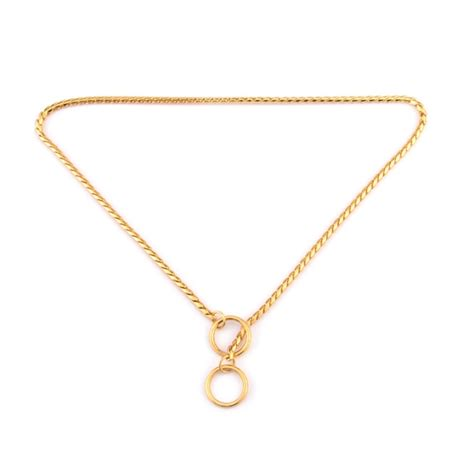 gold chain collar pet collars pet neck neckband snake chain chain solid metal chain
