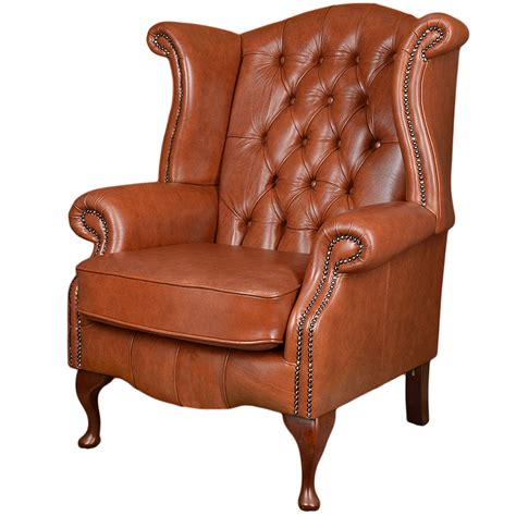 leather chesterfield chairs grain leather chesterfield scroll wing chair