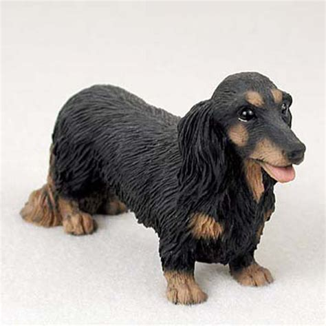 hair weiner dachshund painted collectible figurine statue black hair ebay
