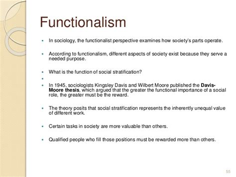 according to the davis thesis according to the davis thesis of social stratification