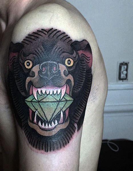 big diamond tattoo grass valley ca 60 bear tattoo designs for men masculine mauling machine