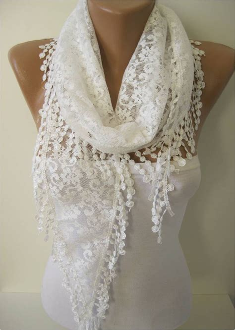 lace scarf scarves guipure fashion scarf by mebadesign