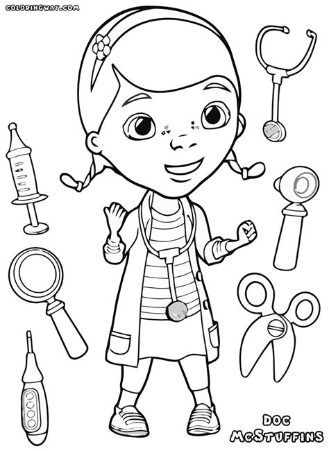 doc mcstuffins happy birthday coloring pages happy hippo doc mcstuffins coloring page doc mcstuffins