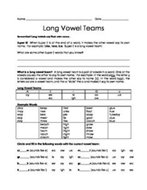 Vowel Teams Worksheets by Vowel Teams Worksheets Worksheets For School Getadating