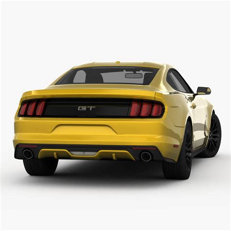 Ford Mustang 2015 3d Model