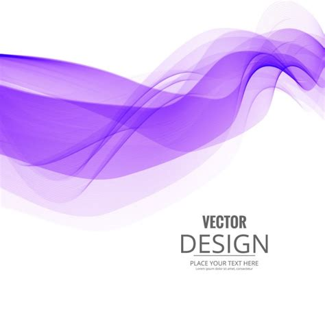 Purple And White Purple Wave On White Background Vector Free