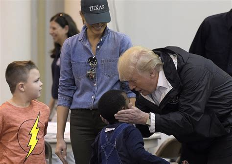 help comfort trump returns to texas to help comfort victims san