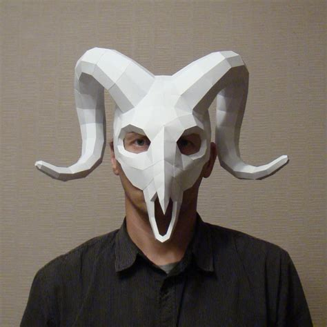 Mask With Paper - ram mask ram skull mask instant pdf papercraft