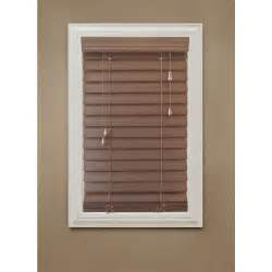 home depot window blinds home decorators collection maple brown 2 1 2 in premium