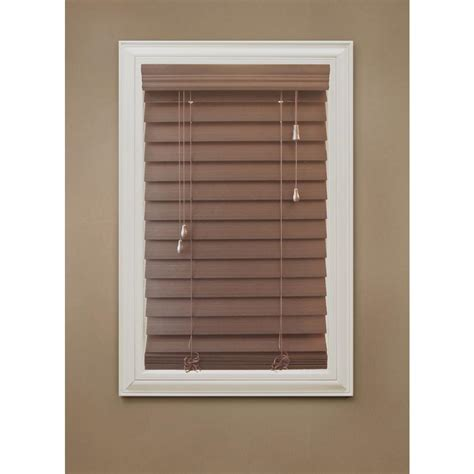 home decorators blinds home depot home decorators collection cut to width white 2 in faux wood blind 34 in w x 64 in l