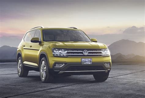volkswagen atlas exterior volkswagen atlas officially revealed for us market only