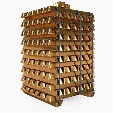 Blocks 46pcs 868 15 gold blocks 3d model