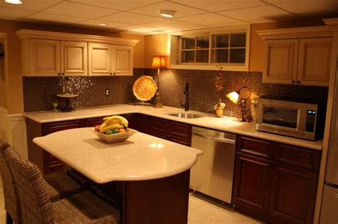basement kitchen cabinets basement kitchen traditional basement by rta cabinet store