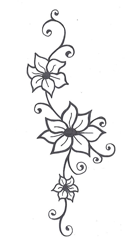 simple tattoo borders flower vine drawings images pictures becuo clipart