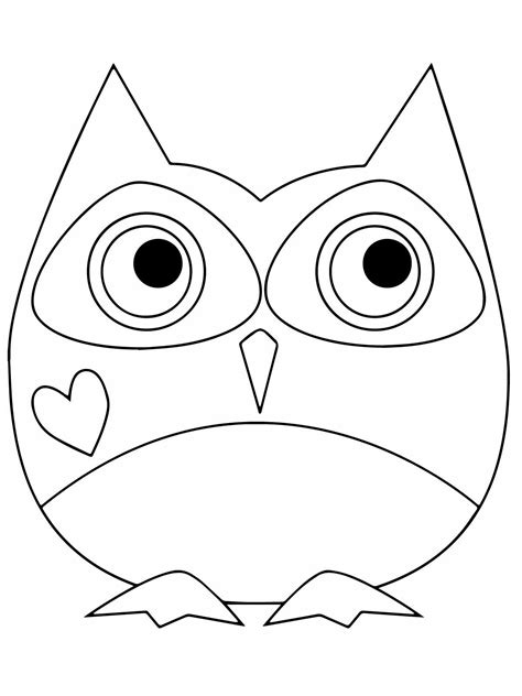 printable images of owl owl coloring pages