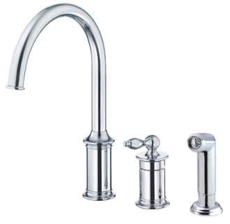 high rise kitchen faucet danze d409910 prince 1h high rise kitchen faucet w spray
