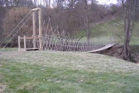 Diy Build A Suspension Footbridge Yard Barns Plans Free Diy Wooden Bird Houses How To
