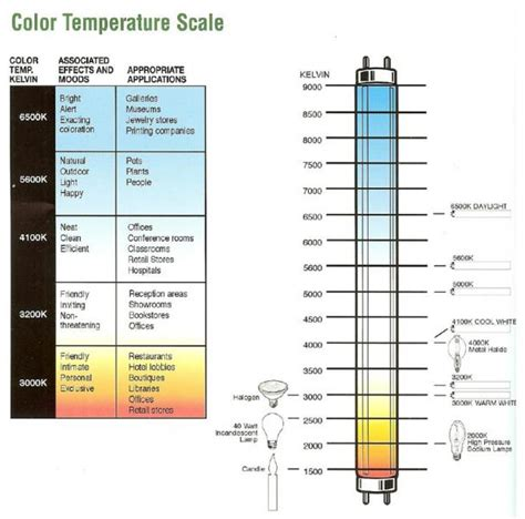 Fluorescent L Color Temperature Chart by Confused About Color Temperature Alloway Commercial