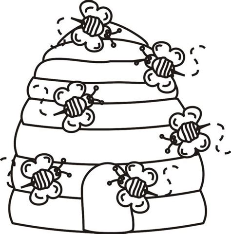 bee coloring pages preschool beehive bees coloring page greatest coloring book new