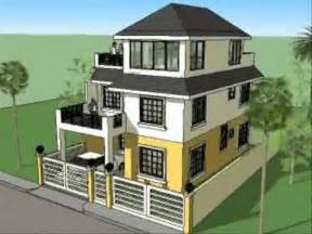 small three story house house plan designs 3 storey w roofdeck youtube