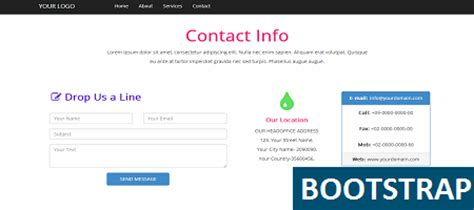 Bootstrap Contact Template Get It Now Bootstrap Terms And Conditions Template