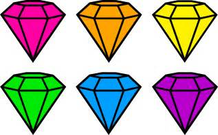 Home Design Free Gems by Colorful Neon Gemstones Free Clip Art