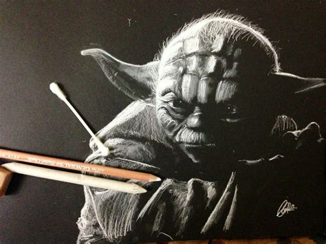 Black And White Chalk Drawings by White Pastel Chalk On Black Paper By Chris Hererra