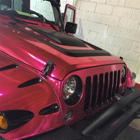 amber rose jeep amber rose s jeep is now pink chrome celebrity cars blog