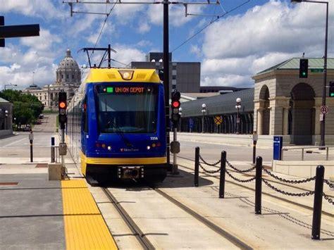Light Rail Mn minneapolis st paul light rail line opens metro report