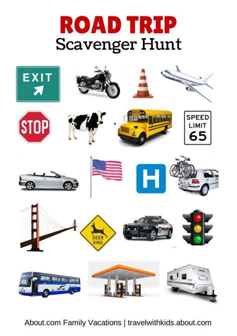 printable road trip scavenger hunt 17 best images about free car travel printables on