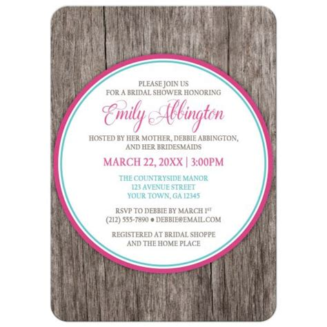 Turquoise And Fuchsia Wedding Invitations