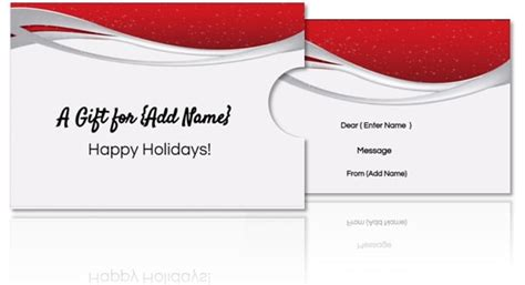 custom gift card template free diy custom gift card holders