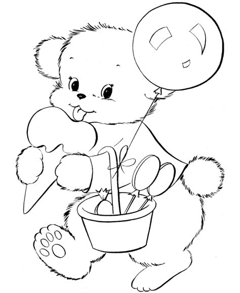 little bear coloring page coloring home