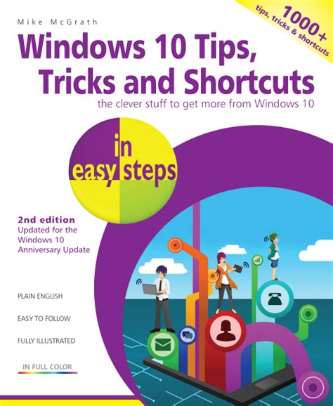 windows 10 step by step 2nd edition books in easy steps windows 10 tips tricks shortcuts in easy