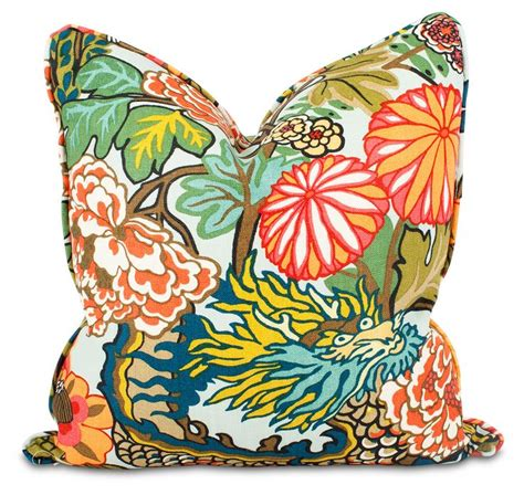 Chiang Mai Pillow by Chiang Mai Throw Pillow Iconic Schumacher Fabric