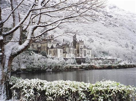 stunning views in kylemore abbey winter is almost here