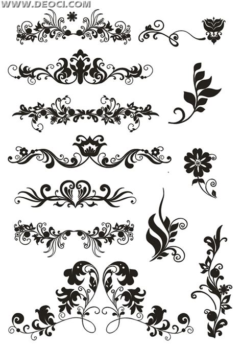 border decorative element patterns vector european decorative pattern vector paper corner cdr set