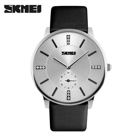 Skmei Casual Leather Water Resistant 30m 1168cl Bl 1 jam tangan pria skmei casual leather water