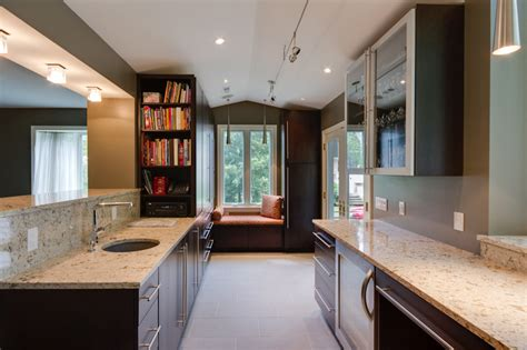 galley style kitchen remodel ideas the ideas of decorating kitchen with two tone kitchen
