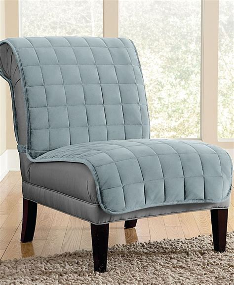 armless chair slipcover sure fit velvet deluxe pet armless chair slipcover with